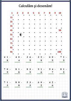 Calculăm și desenăm! Fișe de lucru cu operații matematice și desen Numbers Kindergarten, Fun Math, Kids Learning, Grade 2, Second Grade, Activities, Calculus, Maths Fun