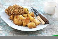 Μπιφτέκια με βρώμη και λεμονάτες πατάτες-featured_image