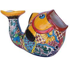 Talavera Small Fish Pot