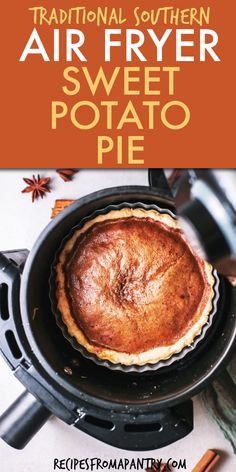 Make delicious and easy sweet potato pie in your air fryer in just a few minutes. This Air Fried Sweet Potato Pie is a classic southern dessert is denser and more flavorful than pumpkin pie. The warm spices and sweet filling is the perfect ending to your Thanksgiving or Christmas dinner. Healthy Southern Sweet Potato Pie is great for meal prep. Click through to get this awesome Air Fryer Sweet Potato Pie!! #airfryer #airfried #sweetpotatopie #thanksgivingdesserts #holidayrecipes #pierecipes Air Fryer Dinner Recipes, Air Fryer Recipes, Brunch Recipes, Dessert Recipes, Southern Desserts, Southern Recipes, Southern Food, Southern Style, Potato Pie