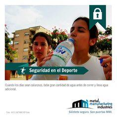 Recuerda beber agua en abundancia antes de correr. #SeguridadDeportiva