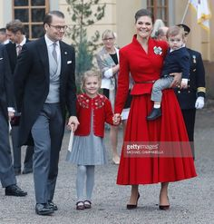 orderofsplendor: Christening of Prince Gabriel, December 1, 2017-Prince Daniel, Princess Estelle, Crown Princess Victoria, and Prince Oscar
