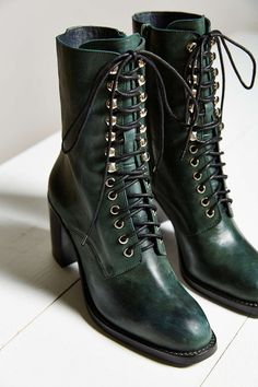 379c727dfa5 Jeffrey Campbell Caspian Lace-Up Boot Leather Lace Up Boots