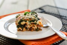 The Trim Healthy Mamas share their philosophy and a recipe for quick, easy, and healthy lasagna.