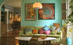 Bohemian Home Decor Ideas 20 Inspiring Bohemian Living Room Designs Rilane Creative Boho Chic Living Room, Eclectic Living Room, Bohemian Living, Eclectic Decor, Living Room Designs, Bohemian Style, Hippie Chic, Bohemian Room, Hippie Style