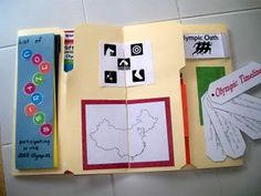 Olympics Lapbook from Learning at His Feet Kids Olympics, Winter Olympics 2014, Olympic Idea, Olympic Games, Preschool Scavenger Hunt, Colegio Ideas, Math Charts, Cultural Studies, Unit Studies