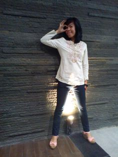#Wedges #Jeans #Shirt