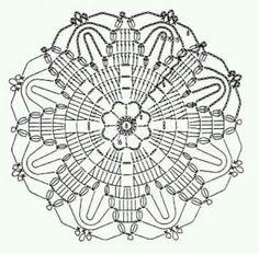 klikni pro další - Her Crochet Crochet Snowflake Pattern, Crochet Mandala Pattern, Crochet Stars, Crochet Motifs, Crochet Snowflakes, Crochet Round, Doily Patterns, Crochet Home, Crochet Doilies