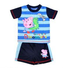 b25471c98 2013 New boys Peppa Pig HOOT kids clothing Peppa Pig Style t-shirt top  shorts