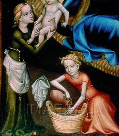 Geburt Christi Kunstwerk: Temperamalerei-Holz ; Tafelbild ; Salzburg ;  Dokumentation: 1400 ; 1410 ; Wien ; Österreich ; Wien ; Österreichische Galerie ; IN 4894  Anmerkungen: 41x29,5