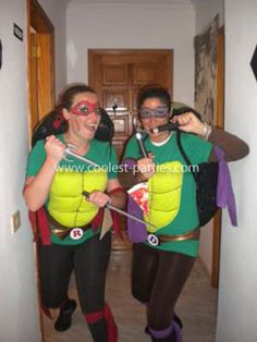 Homemade Ninja Turtles Costume: We prepared this funky Ninja Turtles Costume for the carnival of Arrecife (Canary Islands Spain). We were so good ninjas and trained hard (unfortunately