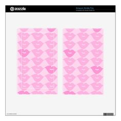 Pink Lips Kindle Fire Decal
