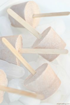 Chocolate Frosty Pops! Only THREE simple ingredients for these delicious popsicles!
