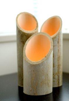 Bamboo lanterns by mariana leon