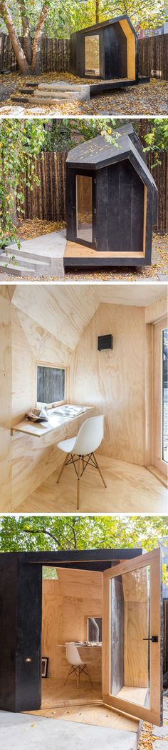 Architensions designed a Tiny writing pavilion in Brooklyn, New York