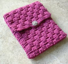 iPad Case  Crochet Basket Weave   12B012 by BernoullisAttic,