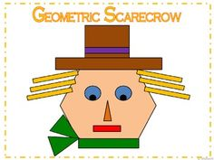 Geometric Scarecrow   I have many other geometric activities and a money saving bundle in my store under the category Geometric Fun.