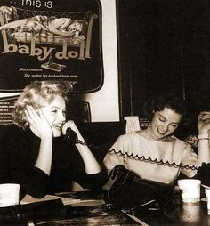 . Marilyn Monroe - December 4, 1956 - acting as usherette and manning the phones at the pre-premiere of Baby Doll, a benefit for the Actors Studio