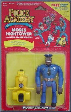 Kenner Police Academy Series 1 Moses Hightower (Meter Reader Scooter) Figure 1988