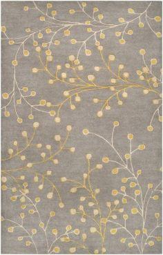 Surya Athena ath-5060 Gray / Yellow / Cream Area Rug