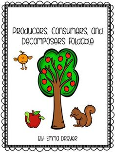 Producers, Consumers, and Decomposers Foldable - students match ...