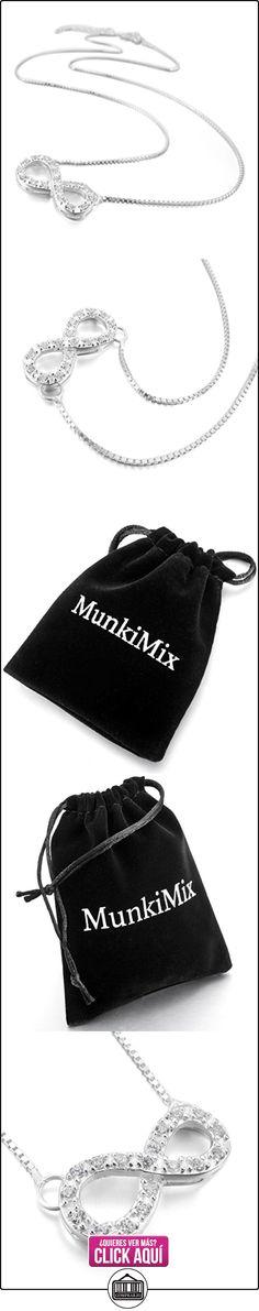 MunkiMix 925 Plata Colgante Collar Eslabones Link Enlace Cadena Infinito Infinity Símbolo Amor Love Amistad Elegante Mujer  ✿ Joyas para mujer - Las mejores ofertas ✿ ▬► Ver oferta: https://comprar.io/goto/B00CFAV2BO