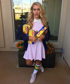 Eleven from Stranger Things Halloween costume