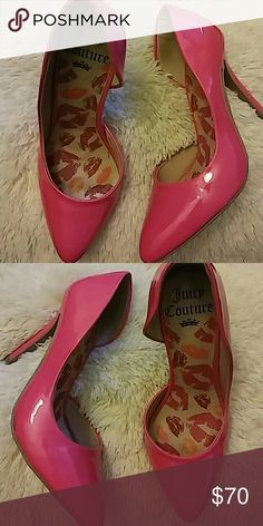 Juicy Couture Heels These are stunning heels by Juicy couture in a neon pink colour. Worn once. Size:6. Juicy Couture Shoes Heels