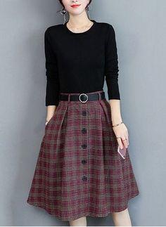 Mode Outfits, Skirt Outfits, Dress Skirt, Modest Fashion, Fashion Dresses, Image Fashion, Fashion Fashion, Outfit Trends, Winter Skirt