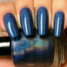 A Deep Blue Linear Holo Nail Polish Swatched By Gaby