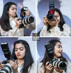 No one can accuse of being camera shy - here she is at the press meet experimenting with a camera. Most Beautiful Bollywood Actress, Beautiful Indian Actress, Stylish Girl Images, Stylish Girl Pic, Dark Photography, Girl Photography Poses, Cool Girl Pictures, Girl Photos, Couple Photoshoot Poses