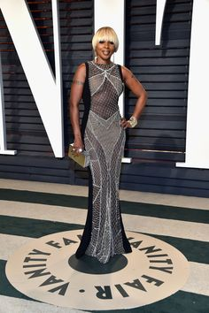 Mary J. Blige in Galia Lahav - Every Look from the 2017 Oscars After-Parties You Can't Miss - Photos