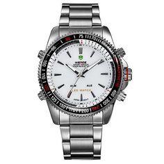 WEIDE Men Sports Military Watch Male Quartz Analog LED Digital 24hour Dispatch Waterproof Multifunction Mens Wristwatches