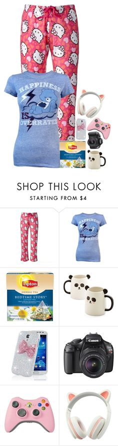 """""""shivering"""" by emmzizleez888 ❤ liked on Polyvore featuring Hello Kitty, Freeze, Lipton, Samsung, Canon and vintage"""