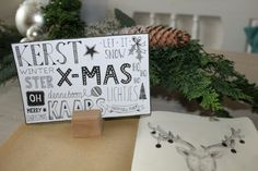 Christmascard handlettering, made by vera