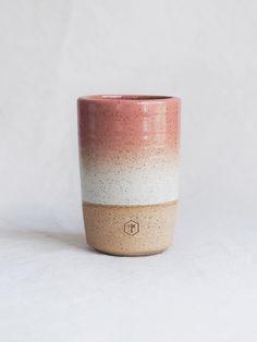 Gradient Tall Mug - Salmon & White