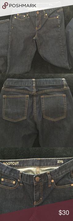 J Crew Jeans in dark blue Bootcut 27S Like new!! J Crew Bootcut Jeans Dark Blue excellent condition! 27S J. Crew Jeans Boot Cut