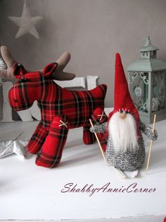 Items similar to Scandinavian Christmas deer Red plaid Christmas Deer toy Handmade Christmas gnomes Tomte Nisse Norwegian gnome Christmas mantle New Year toy on Etsy Primitive Christmas, Christmas Gnome, Plaid Christmas, Christmas Ornaments, Scandinavian Christmas Decorations, Scandinavian Gnomes, Decoration Christmas, Norwegian Christmas, Nordic Christmas