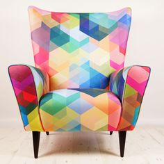 Simon+C+Page+Cuben+Array+Wing+Chair