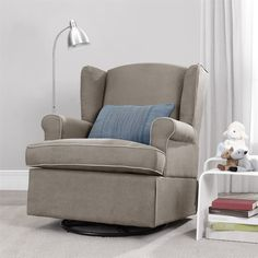 Swivel Glider, Dark Taupe | Overstock™ Shopping - Great Deals on dorel asia Living Room Chairs