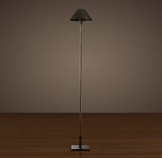 Petite Candlestick Floor Lamp with Metal Shade