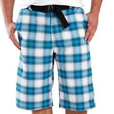 Southpole® Belted Plaid Shorts - Big & Tall - jcpenney