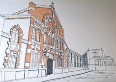 Patrimonio Industrial Arquitectónico: Mis dibujos industriales. Almacén de naranjas José...