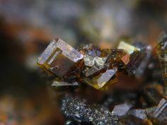 Cyrilovite, NaFe3+3(PO4)2(OH)4·2H2O, Rixon Sandstone Quarries, Campbells Creek, Castlemaine, Victoria, Australia. Fov 2 mm. Copyright © Jean-Marc Johannet