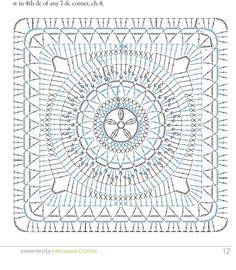 Crochet granny square top charts ideas for 2019 Motifs Granny Square, Granny Square Crochet Pattern, Crochet Squares, Crochet Granny, Granny Squares, Granny Square Poncho, Crochet Top, Motif Mandala Crochet, Crochet Motif Patterns