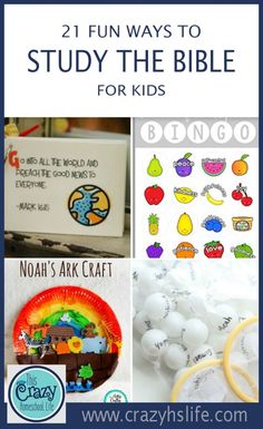 Fun Ways For Kids To Study The Bible Bring your faith to life for your children with these fun Bible study tips for kids!Bring your faith to life for your children with these fun Bible study tips for kids! Preschool Bible Lessons, Bible Activities For Kids, Bible Crafts For Kids, Bible Lessons For Kids, Bible Study Crafts, Bible Games, Children Crafts, Learning Activities, Best Study Bible