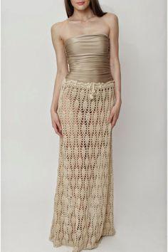 Crochetemoda: Saia Longa de Crochet ~ no pattern