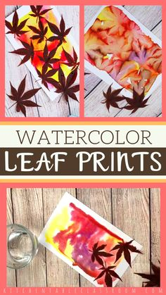 Prints with Watercolor Let nature provide all the details with these beautiful and simple watercolor leaf prints.Let nature provide all the details with these beautiful and simple watercolor leaf prints. Fall Crafts For Kids, Thanksgiving Crafts, Art For Kids, Watercolor Leaf, Simple Watercolor, Watercolor Painting, Autumn Activities, Art Activities, Fall Art Projects