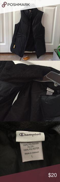 WATER&WIND RESISTANT champion vest black vest by champion. water/wind resistant Champion Jackets & Coats Vests