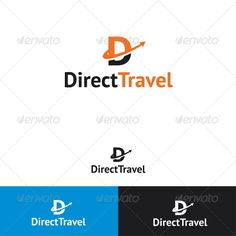 Direct Travel Logo Template - Diet - Fashion - Woman's And Abstract Logo, Geometric Logo, Dental Clinic Logo, Arrow Logo, Travel Logo, Game Logo, Letter Logo, Logo Templates, Logo Design